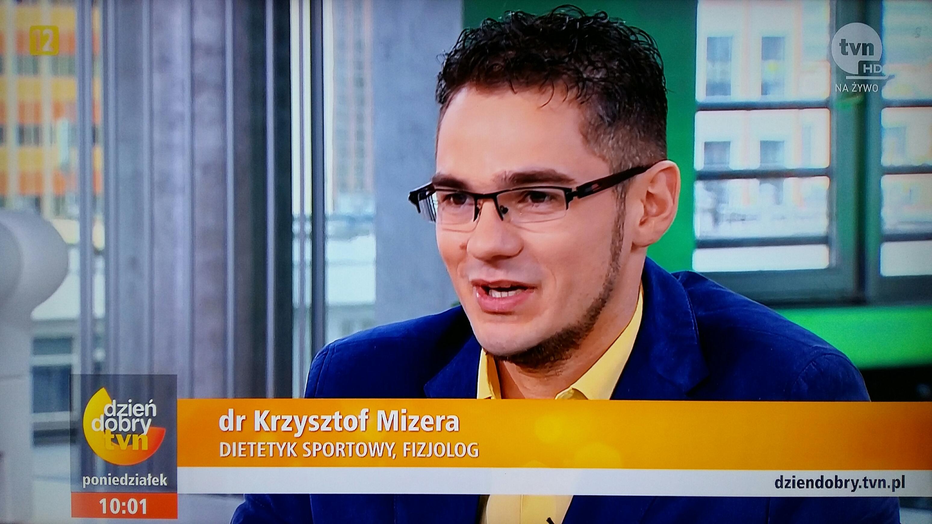 Dietetyk sportowy, fizjolog Krzysztof Mizera
